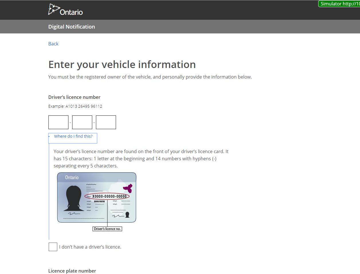 Digital Electronic Notification vehicle information