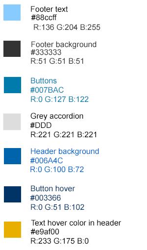 color palette for obpg website