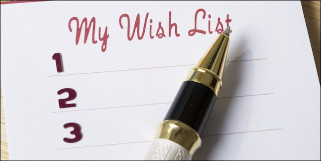 wishlist with pen